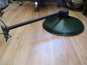 Antique Vintage Benjamin Wall Mount Industrial Gas Station Barn Light Lamp 14""