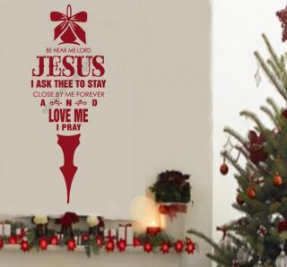 Be Near Me Lord Jesus Christmas Decor Vinyl Decal Stickers Wall Lettering Words