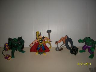 Marvel Action Figures 4 Toy Biz Thor The Hulk Abomination Absorbing Man 1996 97