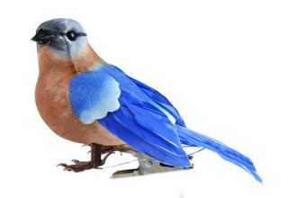 Life Like Feathered Bluebird Holiday Christmas Tree Decoration Wreath Ornament