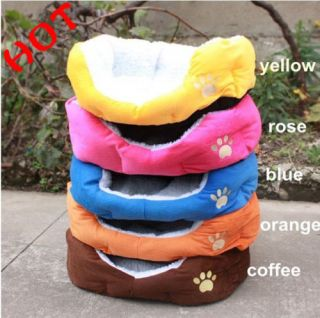 Waterproof Warm Soft Fleece Bed House Basket Nest Mat Fit for Puppy Pets Dog Cat