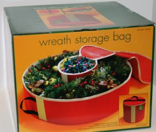 "New 36"" Christmas Wreath Storage Bag with Additional Container for Lights"
