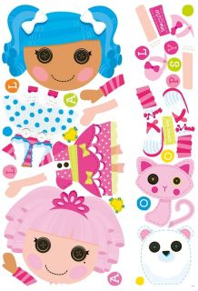 New Giant Lalaloopsy Wall Decals Girls Pink Bedroom Stickers Toy Room Decor