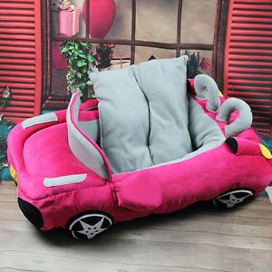 New Fashion Dog Cat Pet Car Shape Bed House Kennel Best Gift 3 Colors for Choose