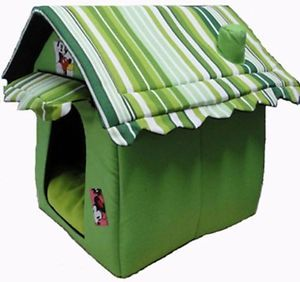 New Soft Cozy Luxury Chocolate Tent Dog Cat House Pet Bed for Small Medium Pets