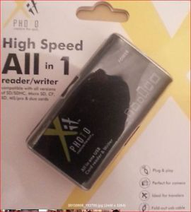 XIT All in 1 USB 2 0 High Speed Memory Card Reader SD XD CF Micro SD MS Duo
