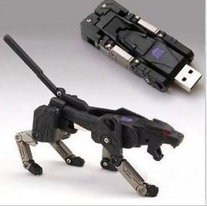 Transformer Robot Dog USB Flash Pen 1GB Memory Drive