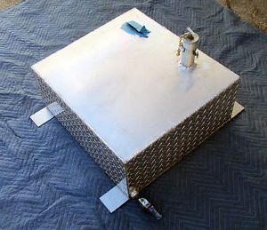 Custom Aluminum Diamond Plate Gas Tank