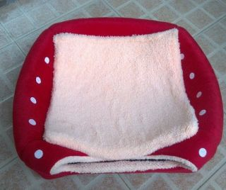 Hot Soft Strawberry Pet Dog Cat Bed House Kennel Doggy Warm Cushion Basket
