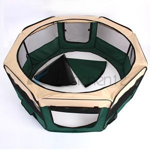 Large Portable Pet Playpen Exercise Puppy Dog Cat Play Pen Foldable Pet Fences