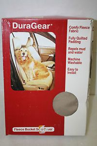 Duragear Pet Dog Car Seat Safety Durable Protection Cover Bucket Fleece Sand