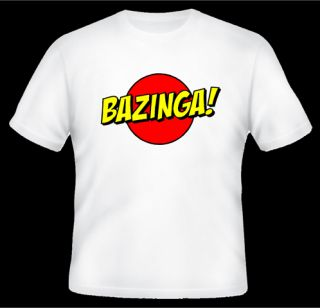 Funny T Shirt Bazinga Sheldon Cooper Big Bang Theory