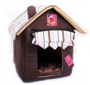 New Hot Coffee Soft Pet Dog Cat House Bed Doghouse Dog Supplies