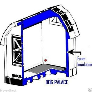 Outdoor Indoor Deluxe Dog Palace Insulated Dog House w Floor Heater Large Medium