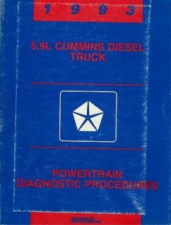 1993 Dodge Truck 5 9L Cummins Diesel Engine Shop Service Repair Manual Book