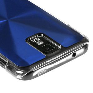 Blue Acrylic Metal Aluminum Hard Case Cover Samsung Galaxy S2 T989 T Mobile