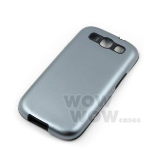 Grey Aluminum Metal Silicone Side Case Cover for Samsung Galaxy S3 SIII I9300