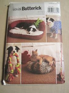 Butterick 4048 Pattern for Pet Dog Cat Beds Toys
