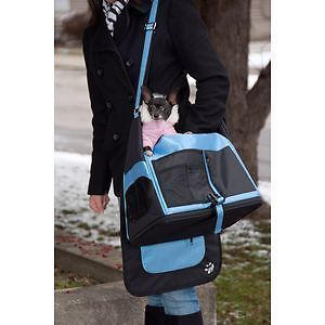 Pet Gear Messenger Bag Dog Cat Carrier Car Seat Blue