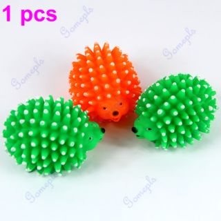 New Cute Hedgehog Shape Pet Dog Puppy Squeaky Chew Toy Squeaker Ball Funny Toys