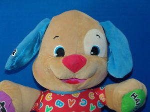 Laugh Learn Fisher Price Musical Talking Puppy Dog Toy ABC Plush Stuffed Animal