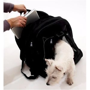 New Black Small Dog Office Pack Pen Work Pet Carrier Laptop Spot Cage Dog Cats