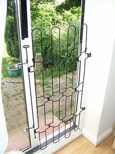 Retractable Steel Pet Baby Gate Barrier for Patio Stair Archway Inner Doors