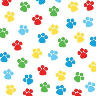 Dog Paw Print Beverage Napkins Dog Party