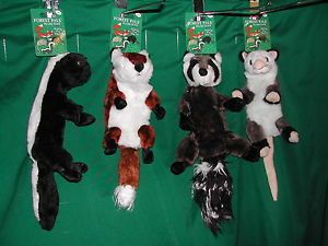 Unstuffed Squeaky Plush Toy Forest PAL Toys Dog Puppy Stuff Free Omnipet Opossum