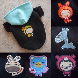 Sale XS s Cute Cartoon Fleece Puppy Dog Hoodies Coats Dog Clothes Pet Supplies