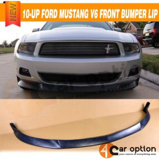 10 12 Ford Mustang V6 STL Style Front Bumper Lip Spoiler Poly Urethane