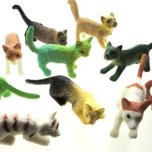NIP 12 Pcs Cat Dog Pet Animal Figure Rubber Toy Plastic Kid Play Learn Life
