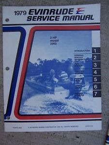 1979 Evinrude Outboard Motor Service Manual 2 HP Model 2902 Marine Boat Engine K