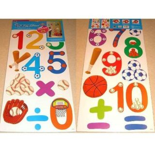 Alphabet Letter Number Wall Stickers Boys Girls Kids Childrens Bedroom Nursery