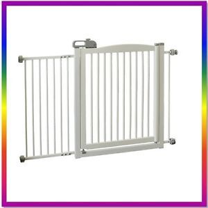 Richell Pet Dog x Wide Wooden Door Gate Walk thru One Touch 150 White R94161