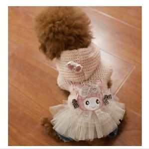 Autumn Winter Ballet Dog Sweater Dog Clothing Wear Coat Warm Jacket Dog Clothes
