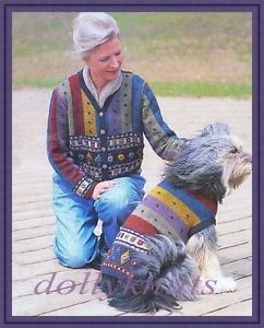 Knitting Pattern for Dog and Owner Matching Sweaters