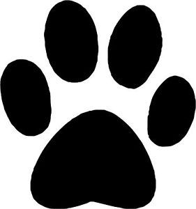 "Dog Paw Print Decal Vinyl Sticker 3 75""x3 5"""