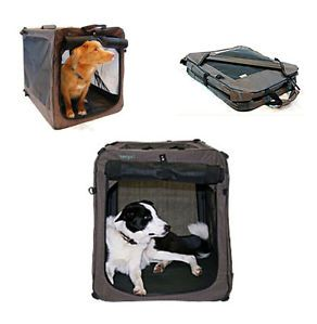 Bergan Canine Soft Sided Portable Travel Pet Dog Crate Cage Folding Pen 4 Sizes