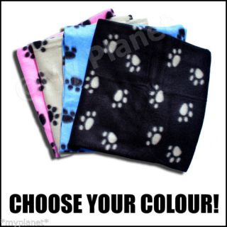 Paw Print Super Comfy Fleece Dog Puppy Cat Kitten Blanket Pick Colour SEALED New