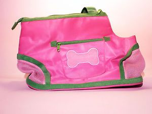 Chelsea Paws Pink Preppy Pet Carrier for Small Dog New