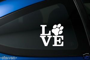 2X Love Paw Print Dog Cat Cute Vinyl Decal Sticker Car Laptop