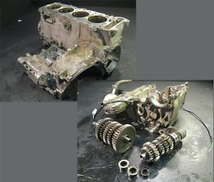 04 Suzuki GSXR 600 Complete Cases Transmission Cylinders Crankcase Motor Engine