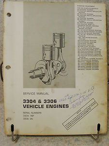 Cat Caterpillar Service Manual 3304 3306 Engine D4 14g 225 528 571 627 920 955