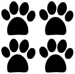 4X Dog Cat Paw Print Tracksrvinyl Decal Sticker Car Window Laptop Wall