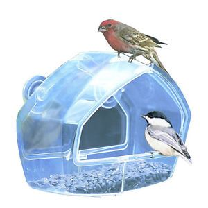 NEW Birdfeeder Patio Clear Window Bird House Seed Feeders Hummingbird