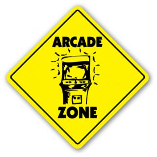 Arcade Zone Sign Game Room Gameroom Machine Pinball Shooting Pin Ball Coin