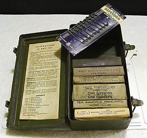 USGI U s Army WWII 12 Unit Vehicle First Aid Kit 97773 Willys MB Jeep