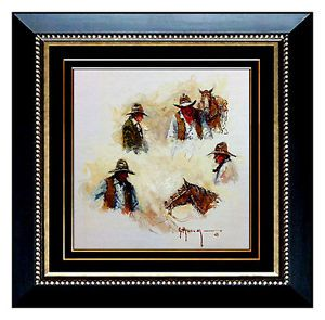 Authentic Gerald G Harvey Original Signed Oil Painting on Board Western Art COA