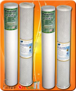 "2 of Each 20 "" x 2 5 "" Sediment Carbon Water Filter Replacement Ro Home"